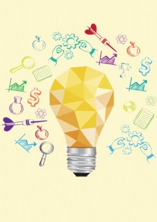 智力开发灯泡背景