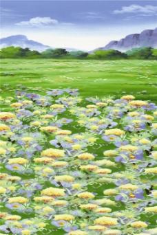 花海草原H5背景