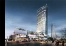 繁华城市高楼建筑设计图