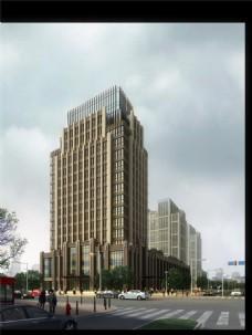 繁华城市建筑设计图