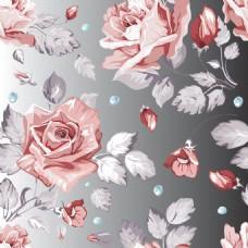 田园风格玫瑰花电视背景墙