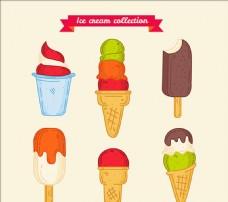 各种手绘美味冰淇淋