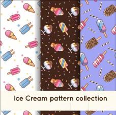 扁平冰淇淋图案系列