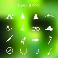 登山远足icons图标设计