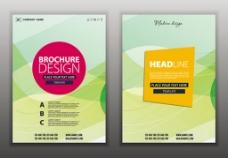 炫彩风格画册页面与宣传单矢量素材