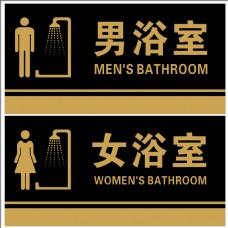 浴室门牌海报