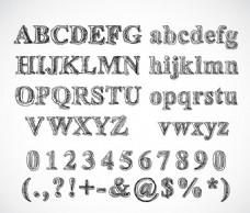 英文数字及符号设计