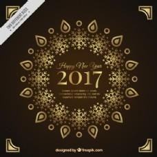 2017新年装饰金背景