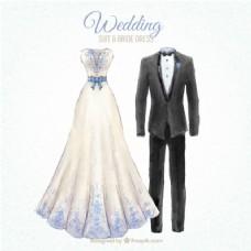 漂亮的结婚礼服,新娘礼服的设计