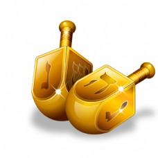 手绘金色几何元素