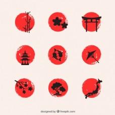 手绘日本元素