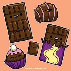 有趣的巧克力糖果