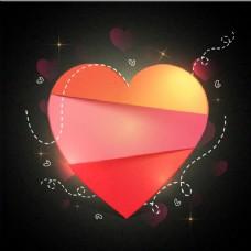 情人的背景,带着红色的心