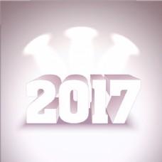 背景:新年有三个聚光灯。