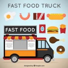 多种食品快餐车