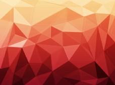红色的几何背景