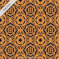 橙色装饰图案
