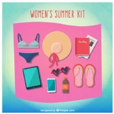 女子夏季用具