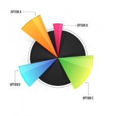 彩色圆形图表选项