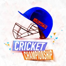 板球锦标赛背景与蓝色头盔