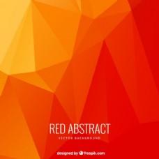 抽象多边形红色背景