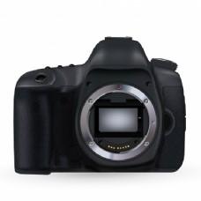 照相机没有镜头的正面视图