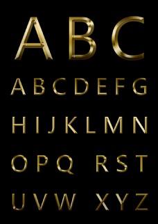 ABC英文字母金属款2