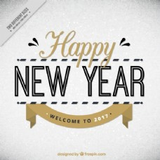 带金丝带的新年背景