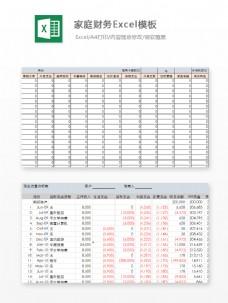 家庭财务Excel模板