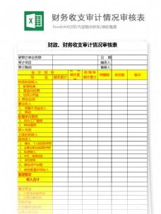 财政、财务收支审计审核表Excel文档