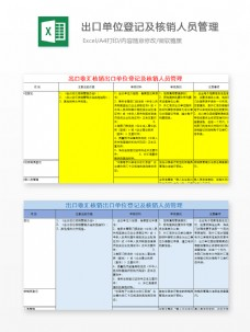出口收汇核销单位登记管理Excel文档