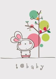 tobaby兔宝贝卡通插画原创