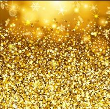金色亮片闪耀光效背景矢量素材