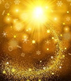 金色动感线条光效矢量素材