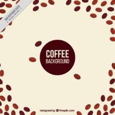 咖啡豆的背景