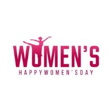 简单背景的妇女节