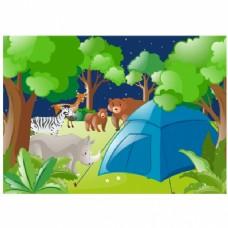 野营的背景设计