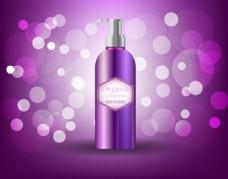 紫色梦幻化护肤品背景图