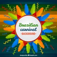 多彩的巴西狂欢节背景