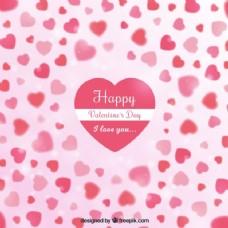 情人节背景深处粉红色的色调和背景虚化效果