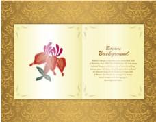金色线条花纹装饰图案