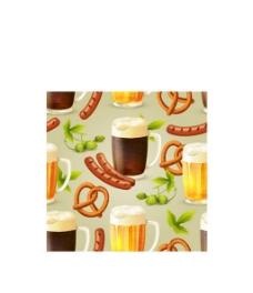 美味啤酒烤肠背景图