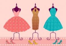 漂亮时尚裙子矢量图
