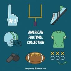 美式足球项目的收藏