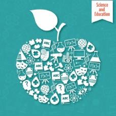 关于科学教育的苹果背景