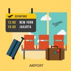 机场背景设计