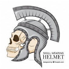 骷髅头与士兵头盔