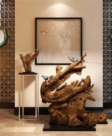 室内空间艺术品模型