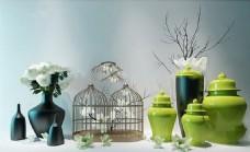 瓷器鸟笼艺术品模型