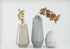 空间瓷器艺术品模型